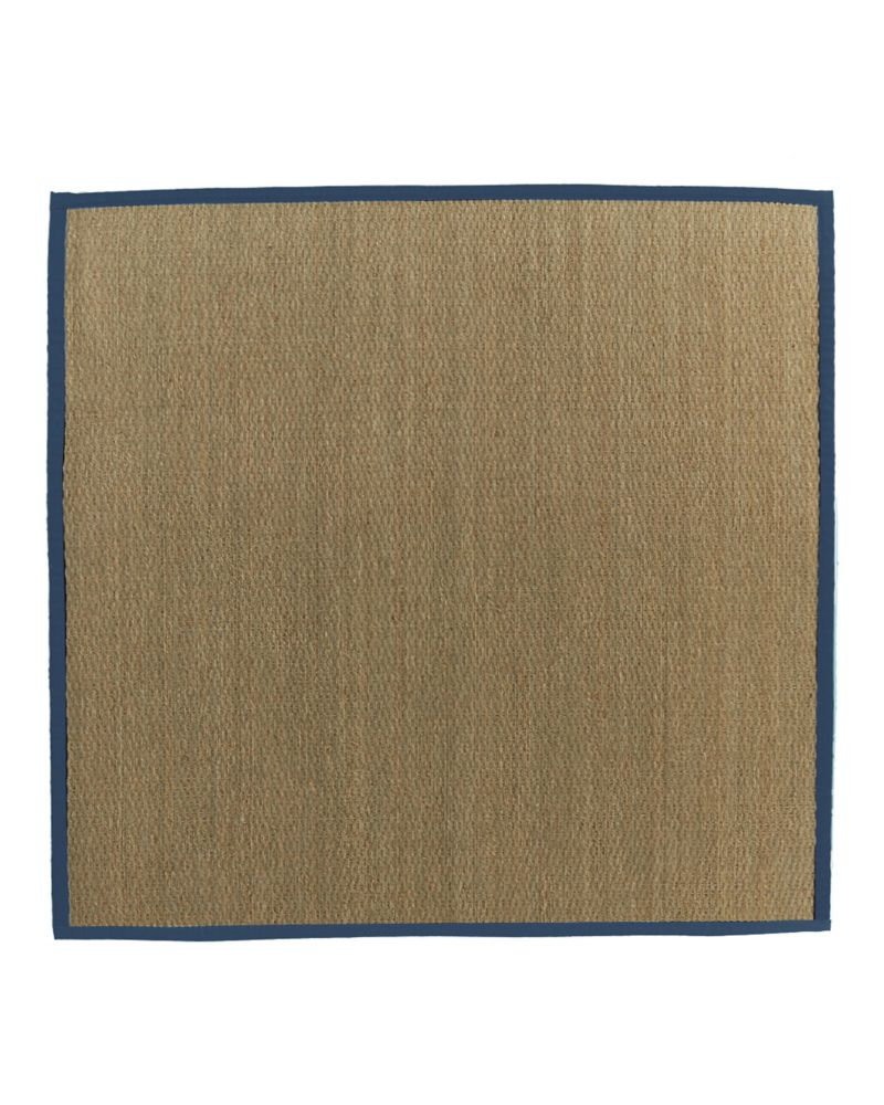 Natural Seagrass Bound Blue #38 5 Ft. x 5 Ft. Area Rug SEAGRASS5X538 Canada Discount