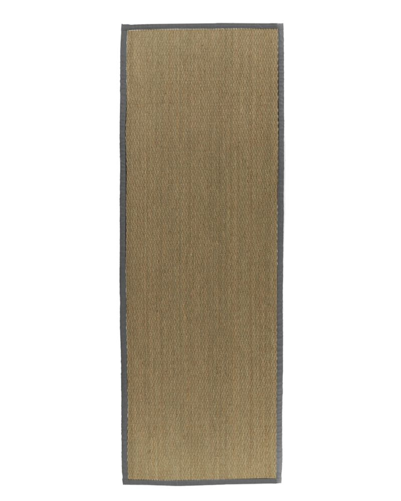 Natural Seagrass Bound Burgundy #34 2 Ft. 6 In. x 8 Ft. Area Rug