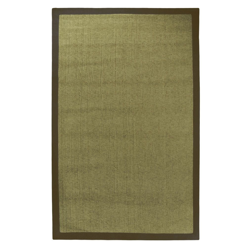 Olive Chenille Sisal Area Rug - 5 Feet x 7 Feet 6 Inches