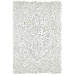 Lanart Rug City Sheen White 3 ft. x 4 ft. 6-inch Indoor Shag Rectangular Area Rug