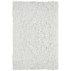 Lanart Rug City Sheen White 5 ft. x 7 ft. 6-inch Indoor Shag Rectangular Area Rug