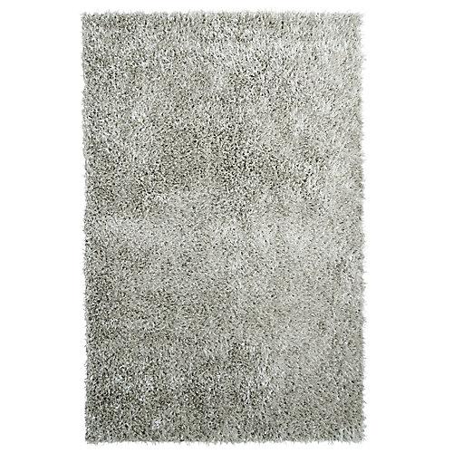 City Sheen Grey 9 ft. x 12 ft. Indoor Shag Rectangular Area Rug