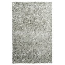 Lanart Rug City Sheen Grey 9 ft. x 12 ft. Indoor Shag Rectangular Area Rug