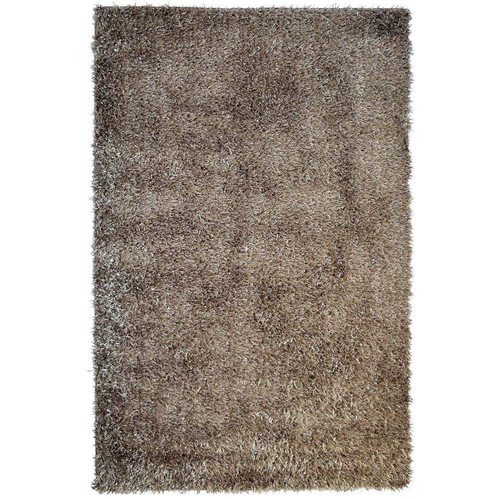 Taupe City Sheen 9 Ft. x 12 Ft. Area Rug