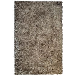 Lanart Rug City Sheen Brown 9 ft. x 12 ft. Indoor Shag Rectangular Area Rug