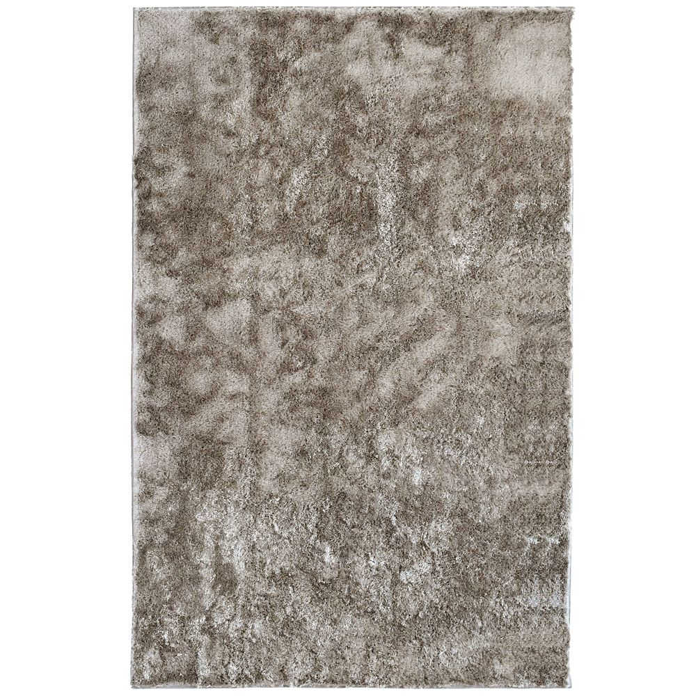 Grey Silk Reflections  2 Ft. 6 In. x 8 Ft. Area Rug