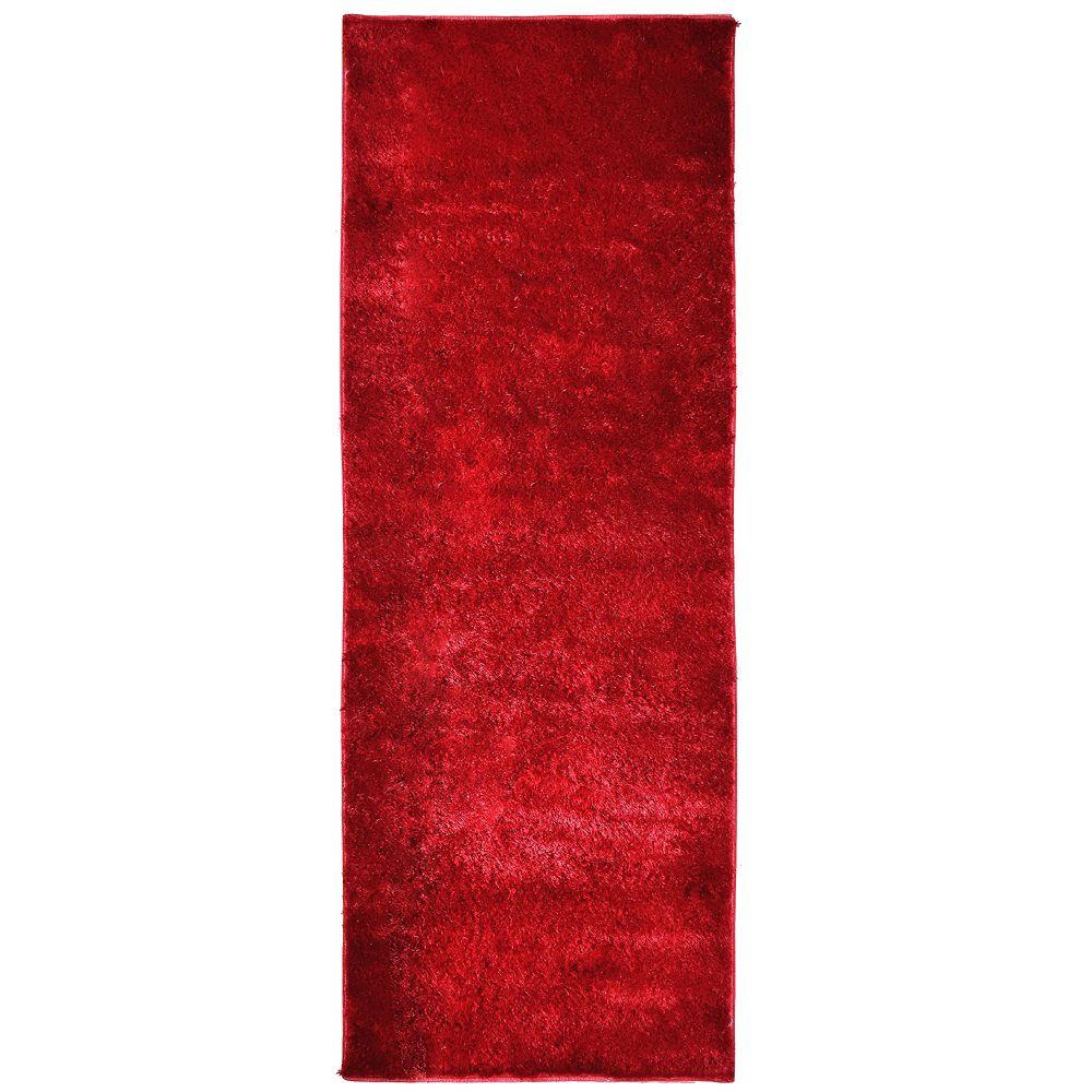 Tapis Silk Reflections Rouge 2 Pi. 6 Po. x 8 Pi.