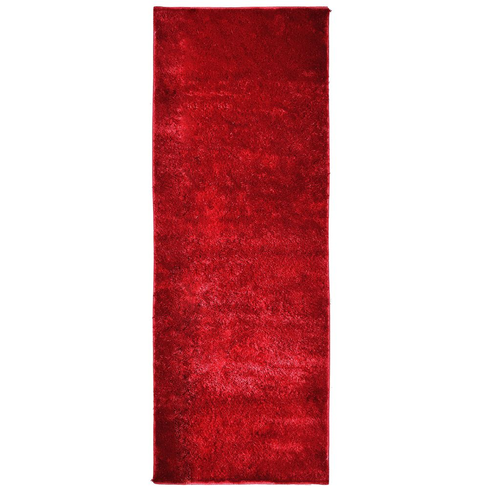 Red Silk Reflections  2 Ft. 6 In. x 8 Ft. Area Rug