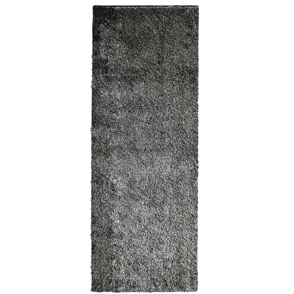 Salt & Pepper Silk Reflections  2 Ft. 6 In. x 8 Ft. Area Rug