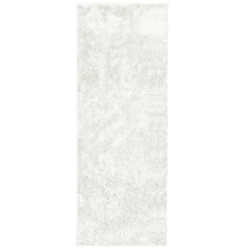 White Silk Reflections  2 Ft. 6 In. x 8 Ft. Area Rug