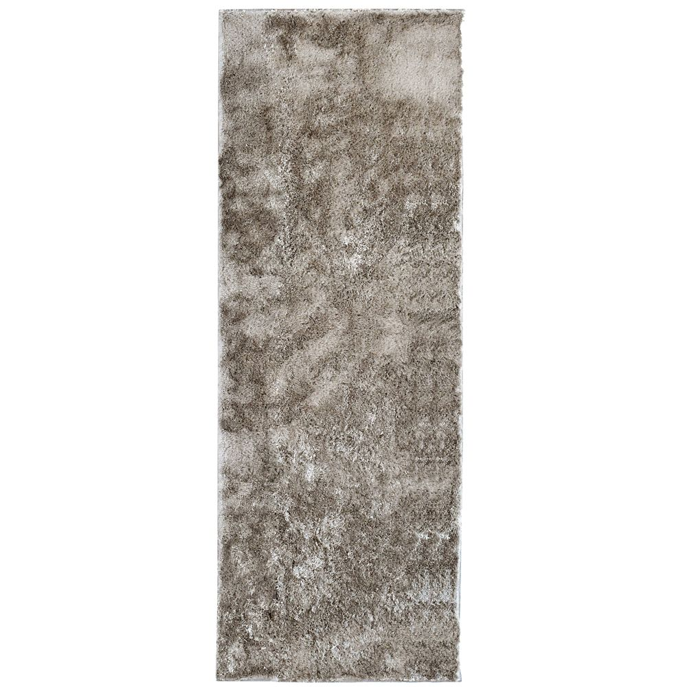 Grey Silk Reflections 3 Ft. x 5 Ft. Area Rug