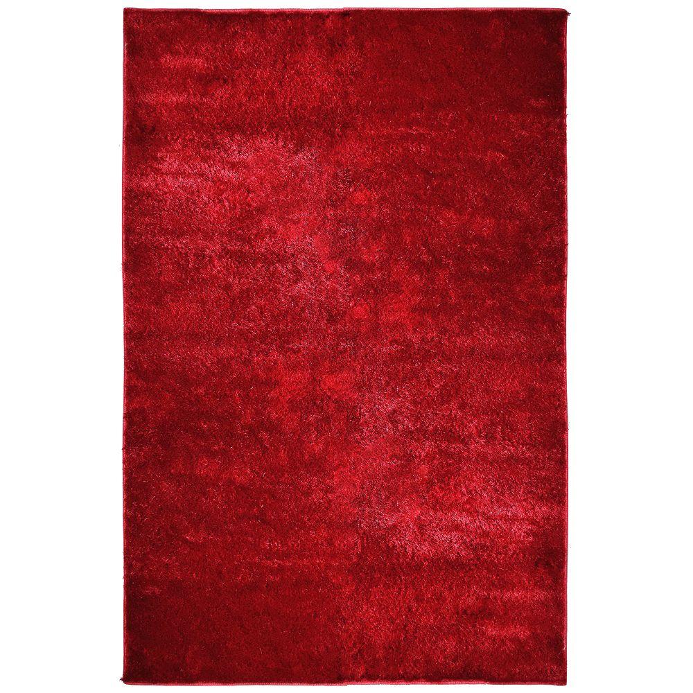 Tapis Silk Reflections Rouge 3 Pi. x 5 Pi.
