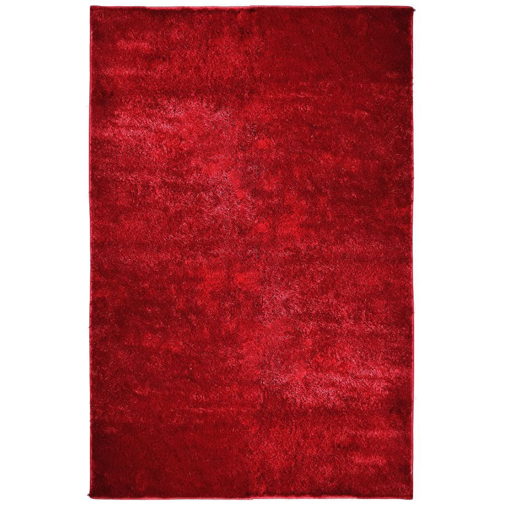 Tapis Silk Reflections Rouge 5 Pi. x 7 Pi. 6 Po.