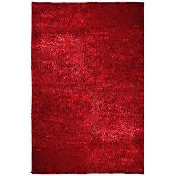 Lanart Rug Silk Reflections Red 5 ft. x 7 ft. 6-inch Indoor Shag Rectangular Area Rug
