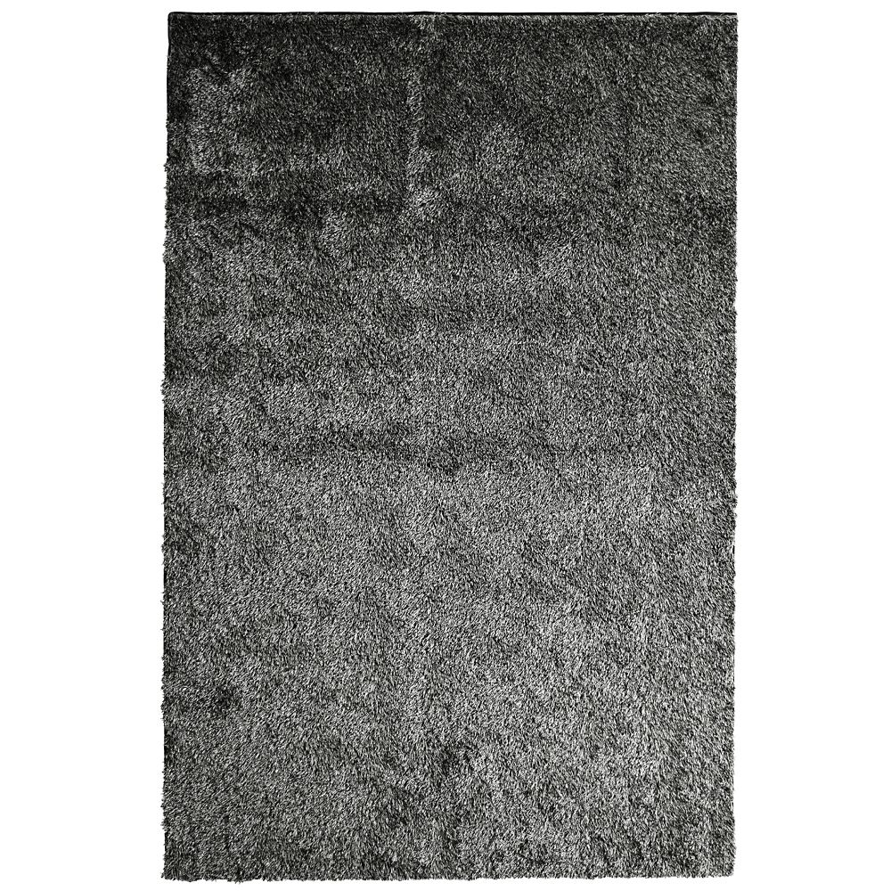 Salt & Pepper Silk Reflections 5 Ft. x 7 Ft. 6 In. Area Rug