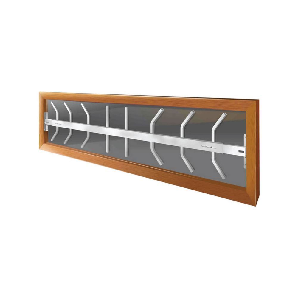 202 B 52-inch to 64-inch W Hinged Window Bar