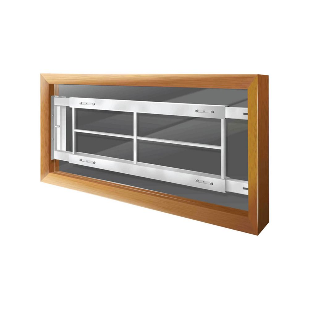 202 C 52-inch to 64-inch W Hinged Window Bar