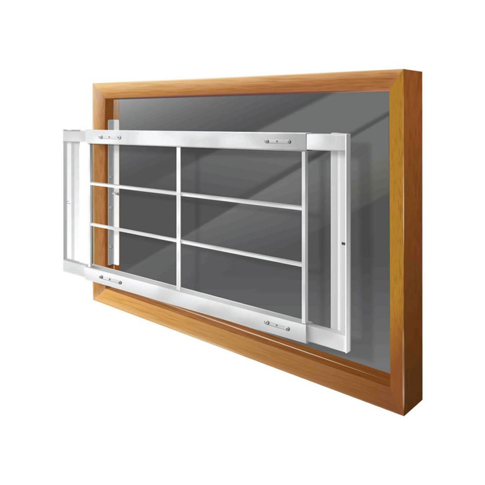 Home Depot Burglar Bars : Mr goodbar d removable window bar fits windows
