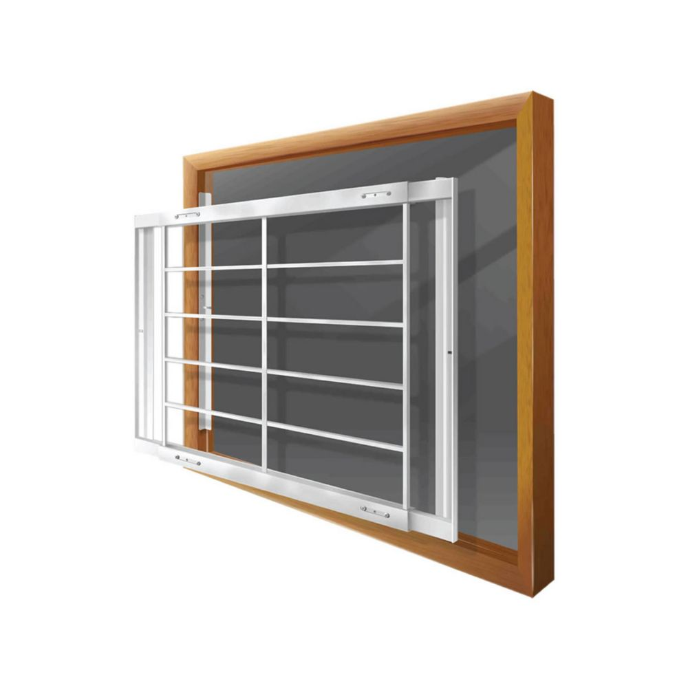 203 E 52-inch to 64-inch W Removable Window Bar
