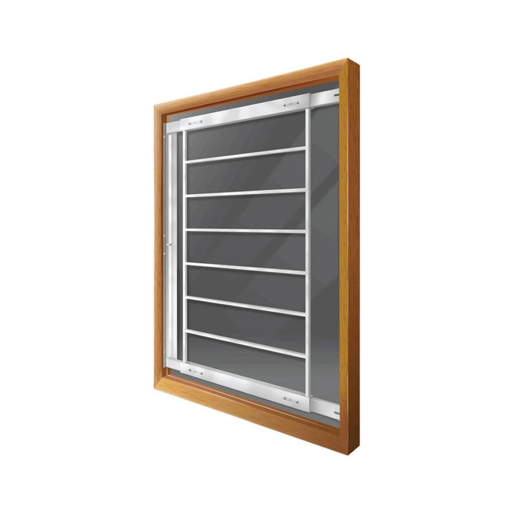202 F Hinged Window Bar Fits windows 21-28 In. wide and 41-53 In. high