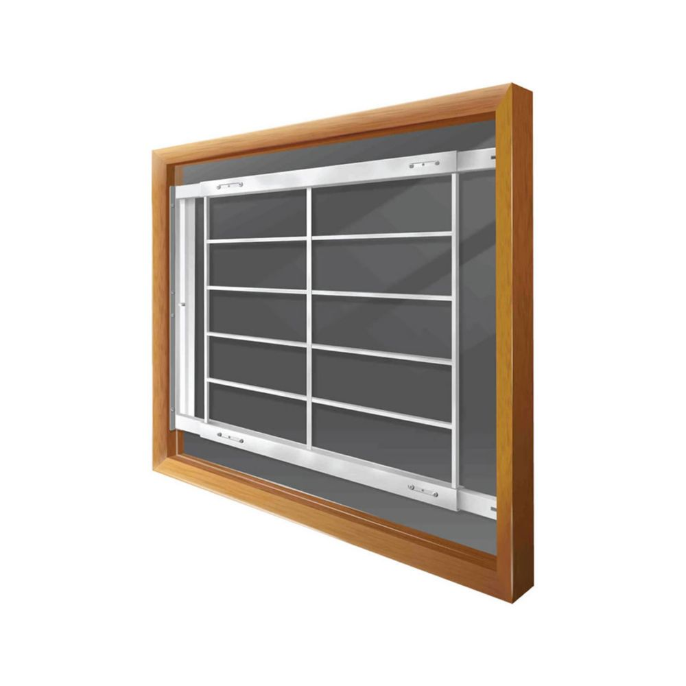 202 E Hinged Window Bar Fits windows 62-74 In. wide and 31-43 In. high