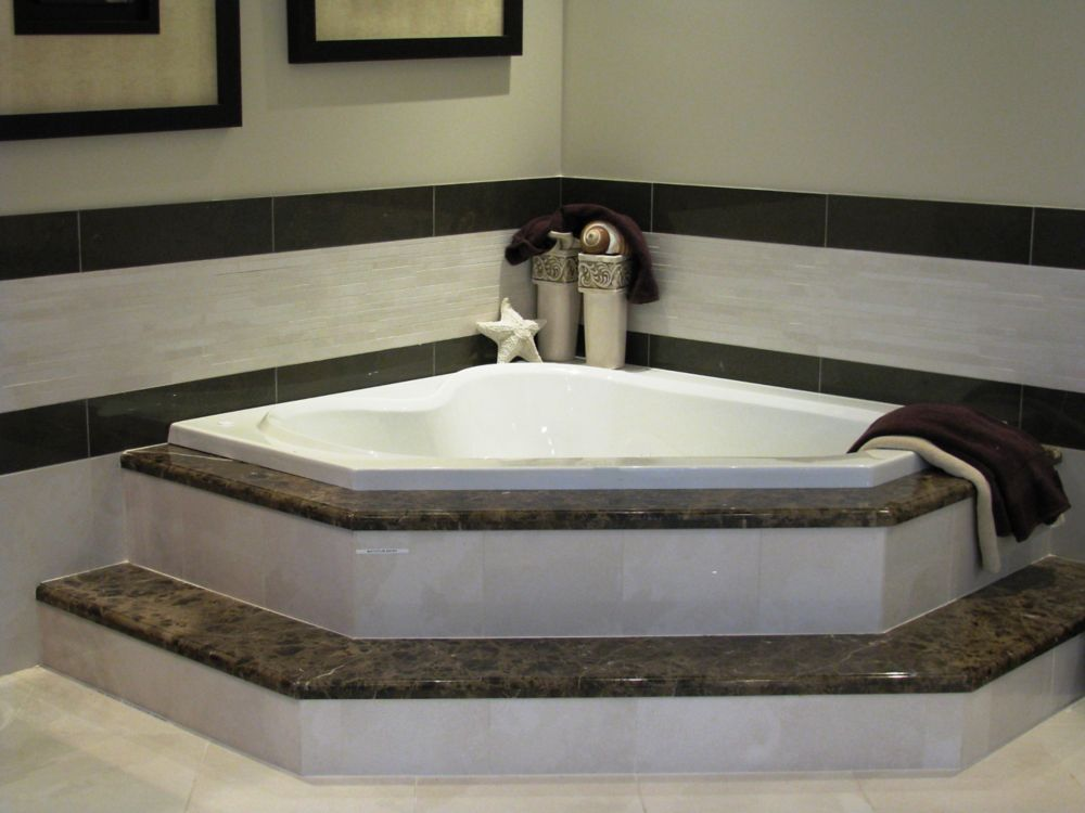 Soho 3 Acrylic Corner Drop-in Whirlpool Bathtub