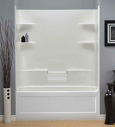 Acrylic One Piece Tub Shower. Belaire 60 inch x 78 32 5 4 shelf Acrylic 1 Piece Right Hand  Drain Tub Shower Mirolin