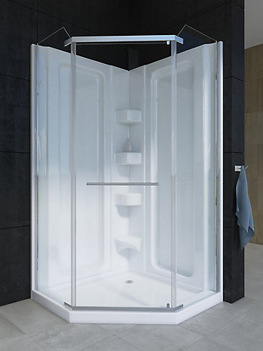 Mirolin Sorrento 38-Inch Acrylic Neo-Angle Shower Stall | The Home ...