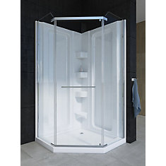 Sorrento 38-Inch Acrylic Neo-Angle Shower Stall