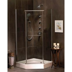 Mirolin Sorrento 38 Inch Acrylic Neo-Angle Shower Door & Base
