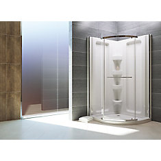 Sorrento 38-Inch  Acrylic Round Front Shower Stall