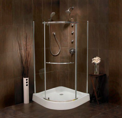 mirolin sorrento base en acrylique et porte pour douche devant arrondi 38 pouces home. Black Bedroom Furniture Sets. Home Design Ideas