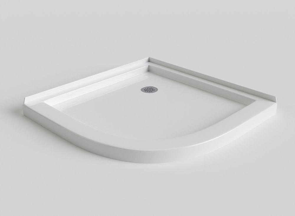 Sorrento - Base de douche en acrylique à devant angulaire - 42 pouces