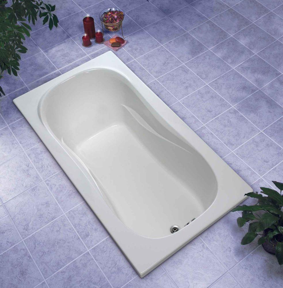 Newport 5 Feet Acrylic Drop-in Non Whirlpool Bathtub