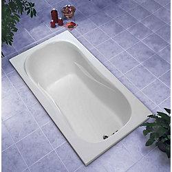 Mirolin Baignoire Newport de 5 pieds en acrylique pour baignoire sans hydromassage Rectangulaire en Blanc