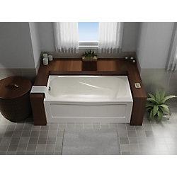 Mirolin Tucson 5 ft. Acrylic Rectangular Non Whirlpool Bathtub in White
