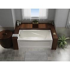 Tucson 5 ft. Acrylic Rectangular Non Whirlpool Bathtub in White