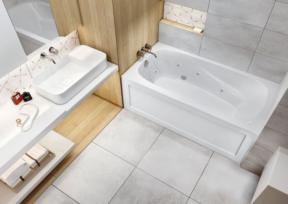 Mirolin tucson bain tourbillon en acrylique avec jupe for Chambre avec bain tourbillon montreal