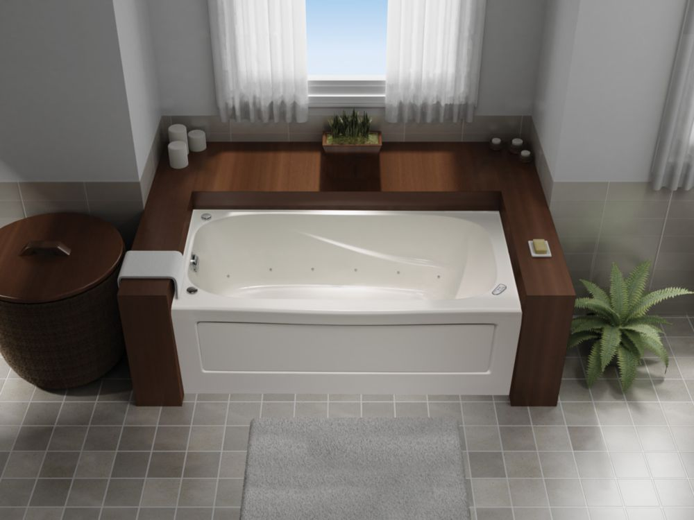 Tuscon 60 Inch X 32 Inch Skirted Acrylic Jet Air Tub-Left Hand JA6032LD Canada Discount