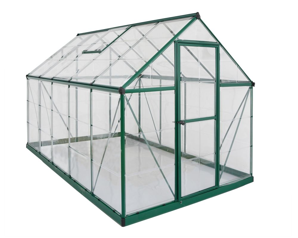 Nature Series Greenhouse, Green - Deluxe 6 Feet x 10 Feet