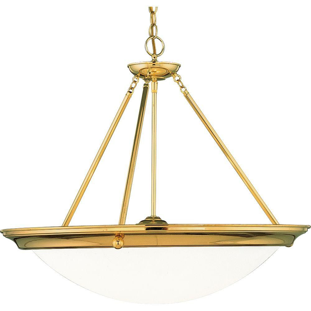 Eclipse Collection Polished Brass Four-Light Chandelier