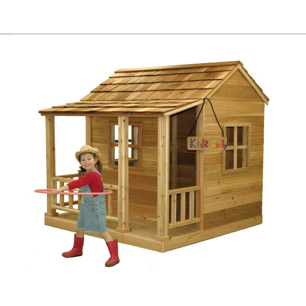 Little Squirt 6 ft. x 6 ft. Cedar Playhouse