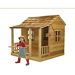 Outdoor Living Today Little Squirt 6 ft. x 6 ft. Cedar Playhouse