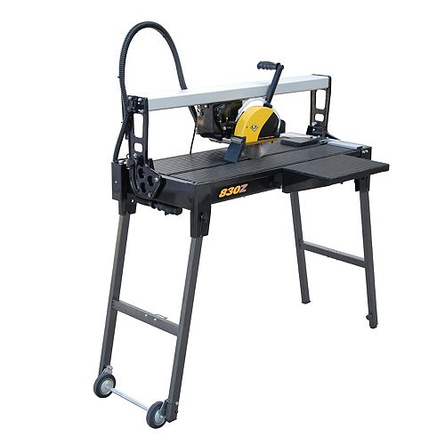 QEP 30-inch Bridge Tile Saw with Water System and Stand