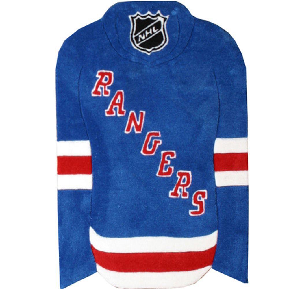New York Rangers Jersey Rug  2 Ft. x 3 Ft. Area Rug
