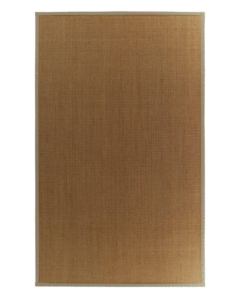 Lanart rug natural sisal 8x10 bound tan 59 the home for Sisal carpet home depot