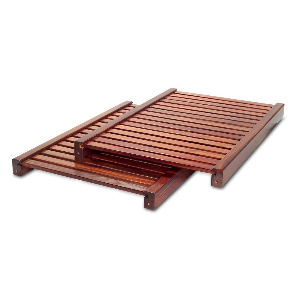 Deluxe Adjustable Shelves Kit - Red Mahogany