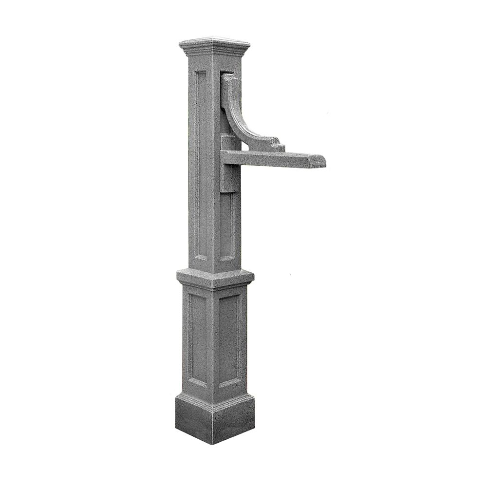 Woodhaven Address Sign Post in Granite