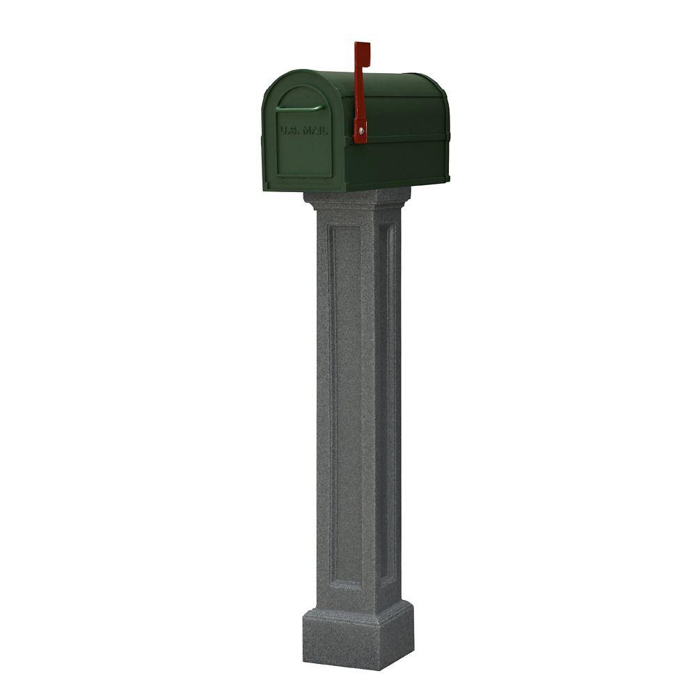 Bradford Mailbox Post in Granite