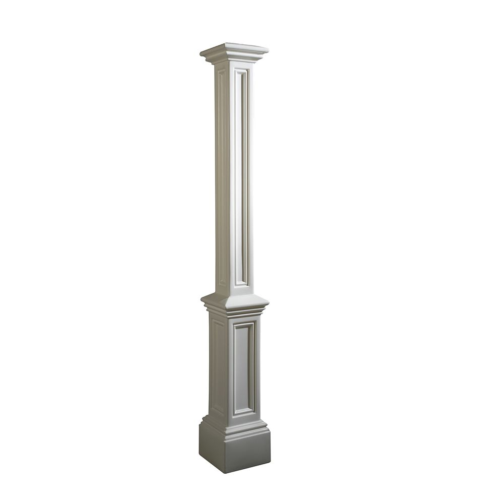 lamp post in white decorative post only the home depot canada. Black Bedroom Furniture Sets. Home Design Ideas